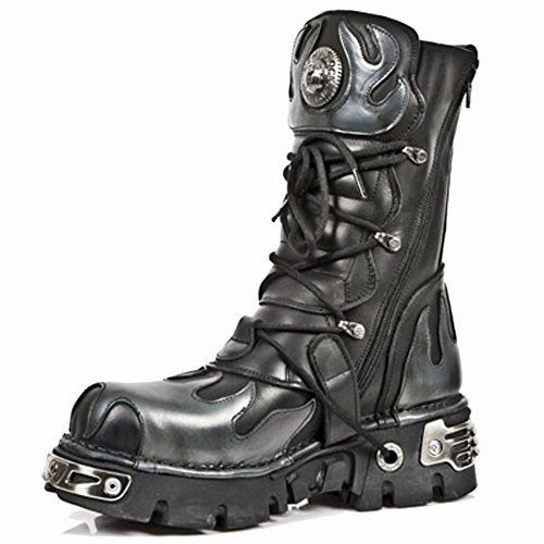 New Rock Metallic Schwarz Stiefel M.591-S2 Black