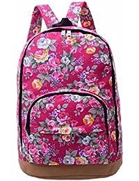 Preisvergleich für Rucksack Vintage Mode Damen Leinwand Einfache Blumen Schultertasche Freizeitrucksack Tasche Rucksäcke