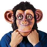 Herren Schimpanse Affe Das Gesicht Bedeckend Tiermaske Kostüm Verkleidung Zubehör