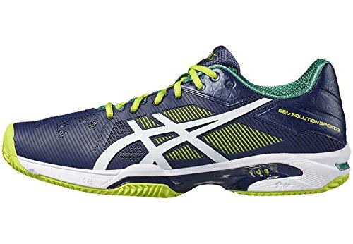 Asics Gel-Solution Speed 3, Chaussures de Tennis Homme, Bleu bleu foncé