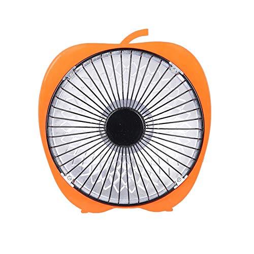 Yao 6 Zoll-Karikatur-elektrische Heizungs-Büro-Tischplattenheizungs-kleine Heizungs-Ventilator-Orange -