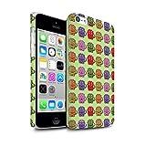 Stuff4 Clipser Matte Coque de Coque pour Apple iPhone 5C / Tricératops Bébé Coloré Design/Dinosaures Dessin Animé Collection