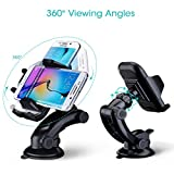 Car Mount, Mpow Grip Pro 2 Dashboard Car Phone Holder / Cars Mount / Universal Cradle Adjustable Phone Mount with Strong Sticky Gel Pad for iPhone 7 7 Plus 6S 6 5S 5C, Samsung Galaxy S8 S7 S6 Note 5 4 HTC, Nokia, LG, Huawei and Other Smartphone