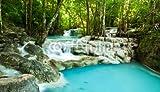 druck-shop24 Wunschmotiv: Erawan Waterfall #60362217 - Bild als Klebe-Folie - 3:2-60 x 40 cm/40 x 60 cm