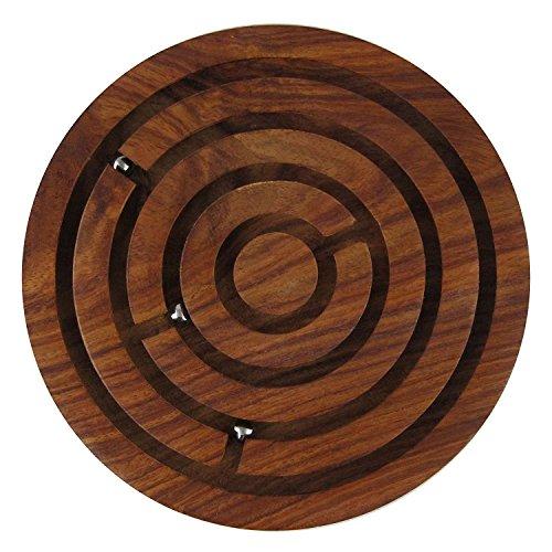 IndiaBigShop Regalo del día del padre Rompecabezas de madera Laberinto Juego de Pelota Junta,