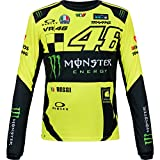 Valentino Rossi VR46 Moto GP Monster Replica Long Sleeve T-Shirt Offiziell 2018