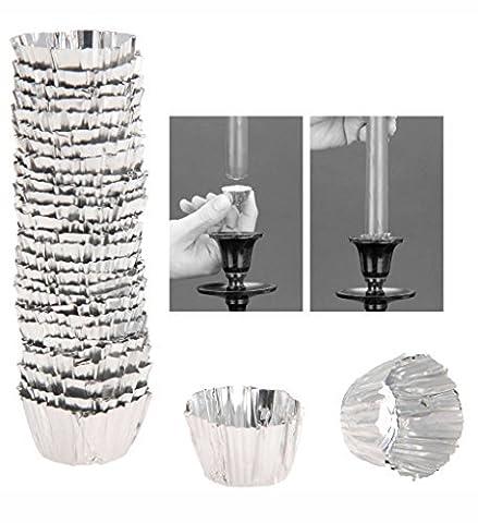 Feuille d'aluminium Cire de bougie Bougeoir Drip Protector Tasses