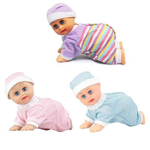 huplue Baby kriechen Puppe pflegend Puppen Elektro-Musik Kids Learning Bildung Spielzeug können Talking Singing Dancing - Puppe Crawling Baby