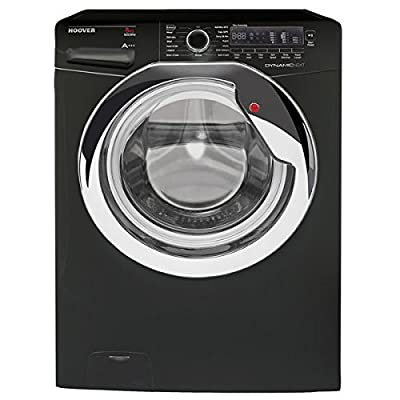 Hoover DXC58BC3 Washing Machine 8 Kg Load Black 1500rpm Spin 12 Programmes A Washing Performance