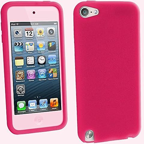 igadgitz Rose Étui Coque Silicone pour Apple iPod Touch 6ème Génération (Juillet 2015) & 5ème Génération (2012-2015) House Case Cover + Protecteur d'écran