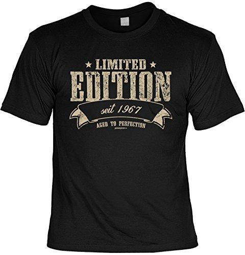 T-Shirt zum Geburtstag: Limited Edition seit 1967 - Aged to perfection - Tolle Geschenkidee - Baujahr 1967 - Farbe: schwarz Schwarz