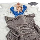 softan Beschwerte Gewichtete Decke mit Glasperlen,Dunkelgrau(6.8kg,150cmx200cm)