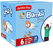Sanita Bambi, Size 6, XXL, 16+ kg, Jumbo Box, 58 Diapers