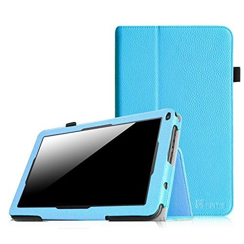 Fintie Premium Kunstleder Folio Hülle Case Schutzhülle Tasche Etui für Dragon Touch A93 9\'\' Quad Core Tablet PC Google Android 4.4 KitKat, Time2 Tablet-PC 9 Zoll - Blau