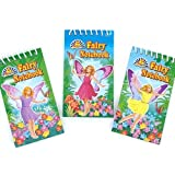 pack of 6 princess fairy mini notebooks - great party loot bag fillers - assorted designs