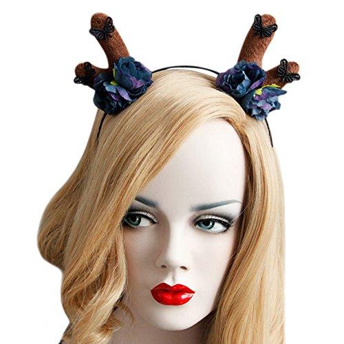 West See Weihnachten Haarband Masken Maskerade Rosa Stirnband Cosplay Party Accessoires Kostüm (Schöne Maskerade Masken)