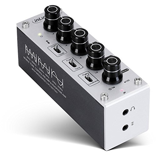 InLine 99204I AmpEQ Mobile Kopfhörer-Verstärker und Equalizer mit Akku, 3,5mm Klinke Silber