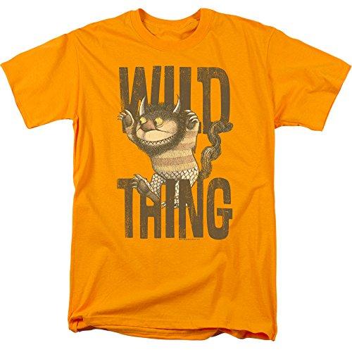 Where The Wild Things Are - Wo die Wilden Kerle sind - T-Shirt für Männer, Small, Gold