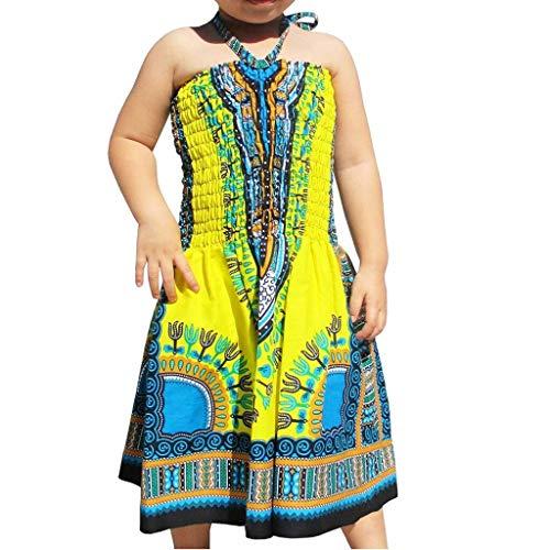 rint Sleeveless O-Neck Slip Oberbekleidung Kleid für Chirdren Girl Kids ()