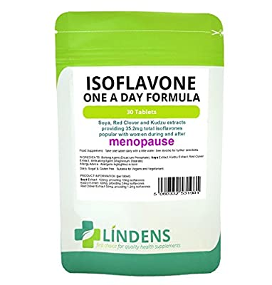 Soya Isoflavone Red Clover 2-PACK 60 Tablets Isoflavones Kudzu Extract Natural by Lindens Health and Nutrition Ltd