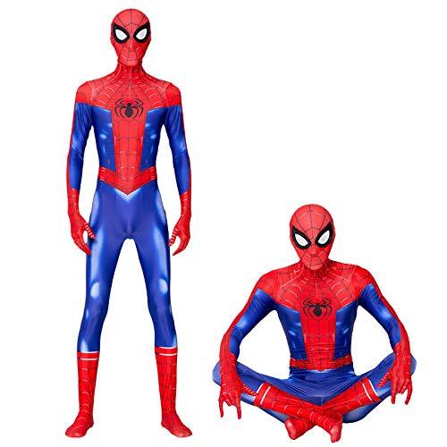 ZHANGQI 3D-Druck Spiderman New Era Peter Park Cosplay Erwachsene Siamesische All-Inclusive-Strumpfhose,Adult-M (Peter Parker Spider Mann Kostüm)