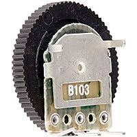 sourcing map 15Stk B103 10K Ohm 3-Pin Dual Linear Dial Rad Potentiometer 16mm x 3mm DE