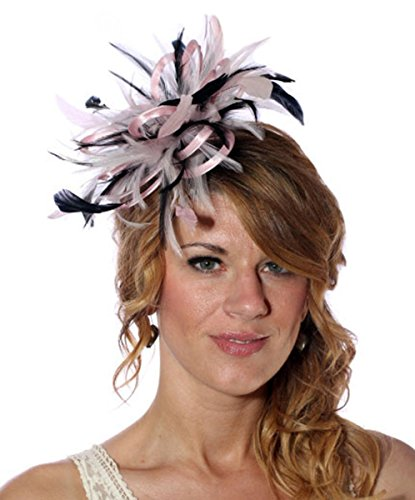 Maighread Stuart Millinery - Bandeau - Femme Multicolore - Baby Pink/Black