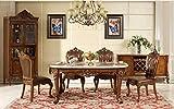 Ma Xiaoying Echt Leder, Esszimmer Sets enthält eine lang Tisch und sechs Stühle