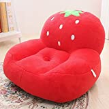 MeMoreCool Kids Cartoon Sofa Toy Plush Chair,Red Strawberry Seat for Boys and Girls,Perfect Gifts for Children on Christmas/Birthday
