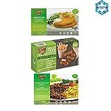 Fry's Family Foods Pack de 3: NUGGETS SABOR A POLLO, ESCALOPE EMPANADOS & CARNE PICADA VEGETARIANA CON GRAVY (1 de cada)