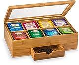 Teebox aus natürlichem Bambus, mit kleiner Schublade, tolle Geschenkidee Von Bambusi