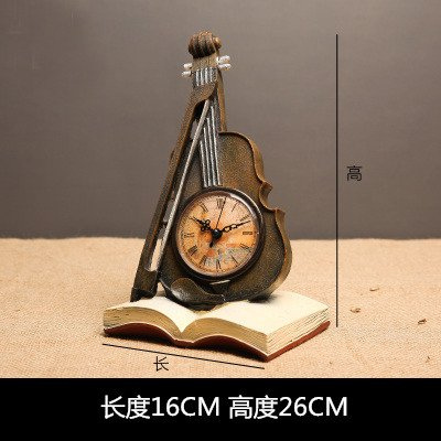 IEuropean Retro-Stil Spieluhr Ornamente Studie das Wohnzimmer Kaffee Wein Einrichtung Foto Requisiten, goldenen Geige Wecker