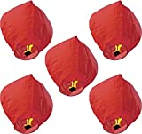 #8: Aim-20 Piece Of Sky Lantern,Air Baloon,Flying Paper,Flying Lantern With Wax Candle Red Color