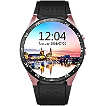 AWOW KW88 3G WIFI Smart Watch Cell Phone All-in-One Android 5.1 Supports Nano SIM Card With GPS Camera Heart Rate Monitor Google Map Google Play