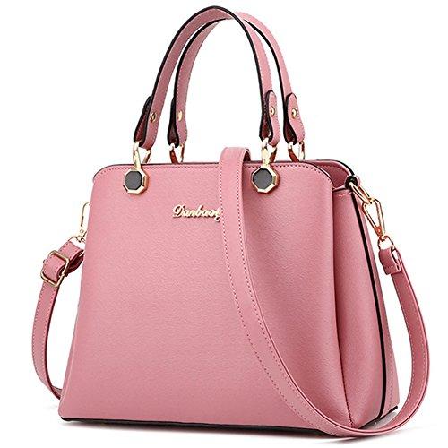 fanhappygo Fashion Retro Leder Damen elegant Anhänger taschen Schulterbeutel Umhängetaschen Abendtaschen rosa