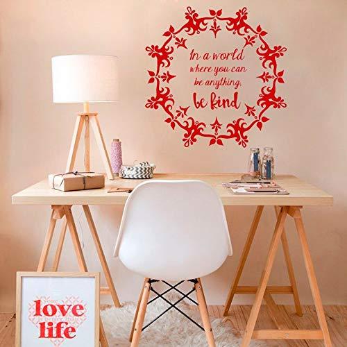 Good World Quotes Jewelry Wall Decal Flower Yoga Dormitory Decoración del hogar Mural Vinyl Sticker 4 57x57cm