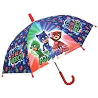 Chanos Pj Masks Safety Runner Poe Embossed Folding Umbrella, 38 cm, Green, Blue and Red