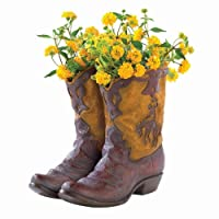 Summerfield Terrace Pair of Boots Cowboy Planter Planters Garden Decor Home Garden Decor Garden Sculptures
