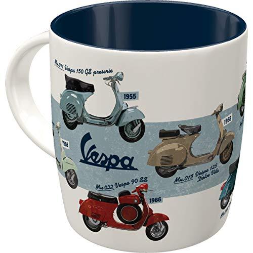 Nostalgic-Art 43052 - Vespa - Model Chart, Retro Tasse mit Spruch, Vintage Kaffee-Becher, Geschenk-Tasse für Vespa Fans