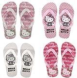 Hello Kitty Flip Flops in Weiss