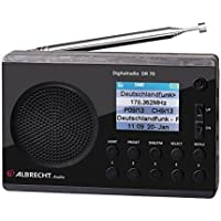 Albrecht 27370 - Radio Digital (Dab + / FM, 230 V, batería), Color Negro
