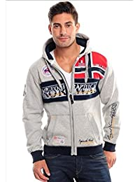 Geographical Norway Flyer Men 100, Sweat-Shirt à Capuche Homme