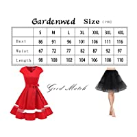84b0654f613 ... Gardenwed Women s Vintage 1950s Retro Rockabilly Swing Dress Cocktail  Dress With Cap Sleeves. Sale! 🔍. On Sale