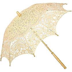 "Parasol novia, modelo ""Vivienne"", color anaranjado pastel"