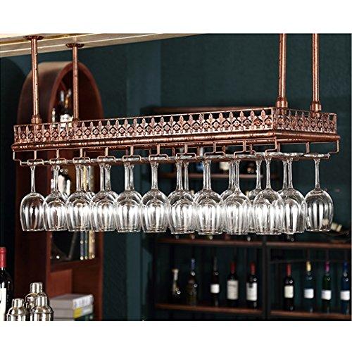 Weinregal Bar Weinregal Hängende Becherhalter Becher Rack Upside Down Weinglas Halter (Farbe : Messing, größe : 80x35cm) -
