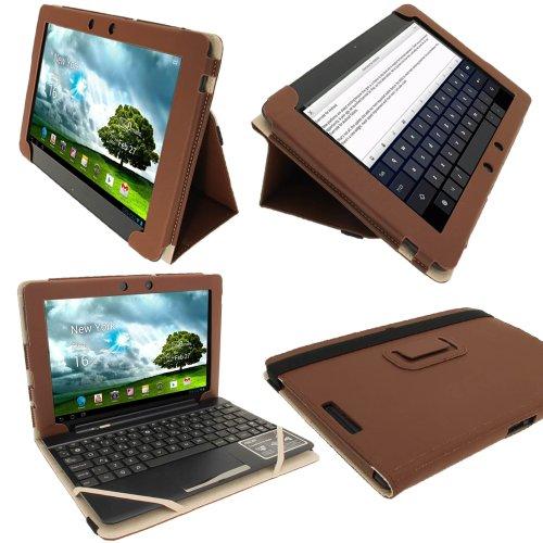 Igadgitz 5055644801549 Brown Portfolio Pu Leather Case Cover