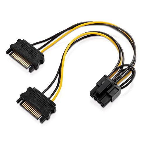 Adaptare 35109 Grafikkarten-Stromkabel 2-mal SATA-Strom > PCIe 6+2-pin
