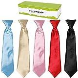 Bundle Monster 5 pc de Color palo de golf para niños vestir Wear corbata pre-lazos de satén atados...