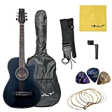 #8: Vault 38C 38 inch Cutaway Acoustic Guitar with Picks, Bag, Strings, Strap and String winder
