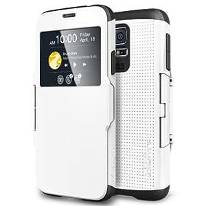 Spigen SGP10997 Slim Armor View Case für Samsung Galaxy S5 smooth weiß